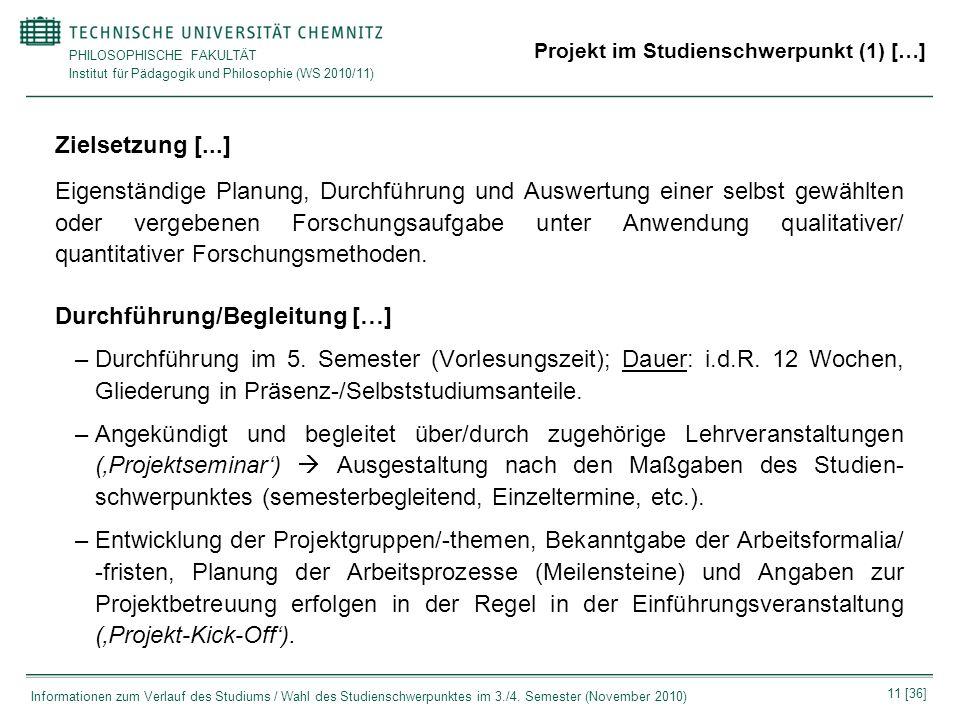 Projekt im Studienschwerpunkt (1) […]